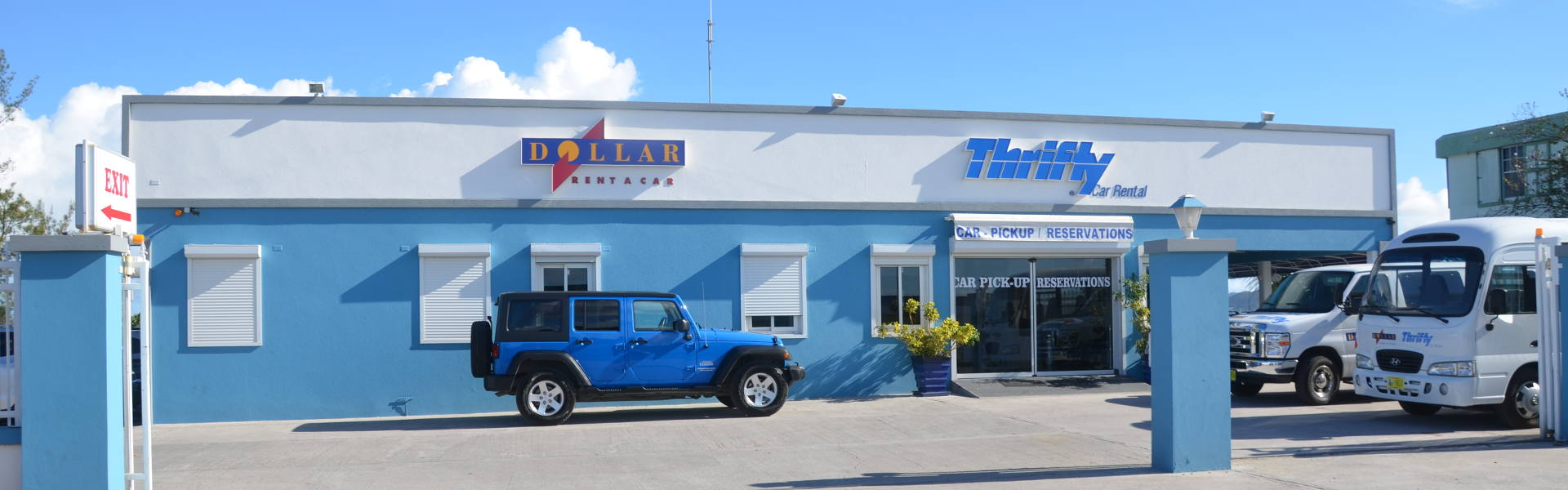 Dollar/Thrifty Car Rental in St. Maarten has always been true to the company's motto to provide great cars at the best rates. But during the past years, Dollar/Thrifty SXM has expanded its ambitions and became a leader of the island's competitive car rental industry.